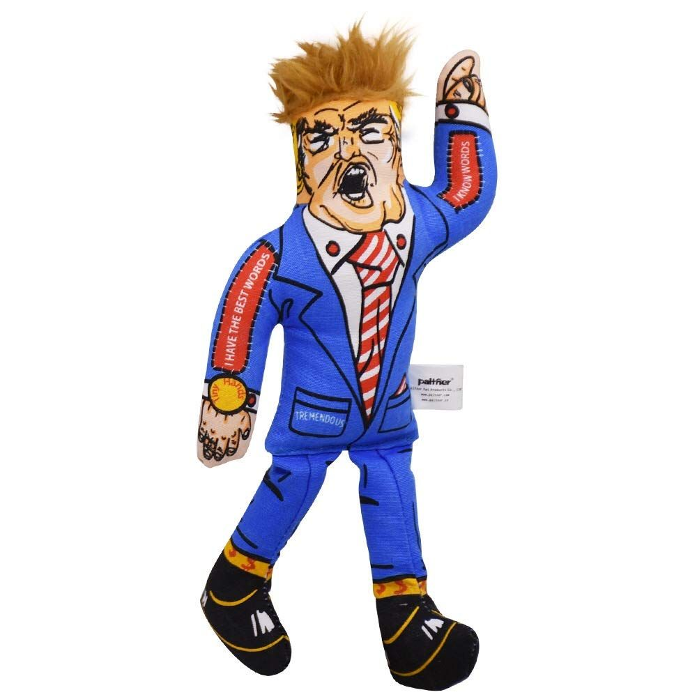 Squeaky Donald Trump Dog Chew Toy