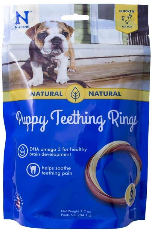 N-Bone Puppy Teething Ring (Chicken Flavor) Dog Treats