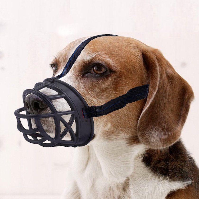 Mayerzon Dog Muzzle, Basket Breathable Silicone Dog Muzzle